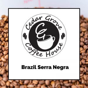 Brazil Serra Negra coffee label