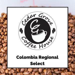 Colombia Regional Select coffee label