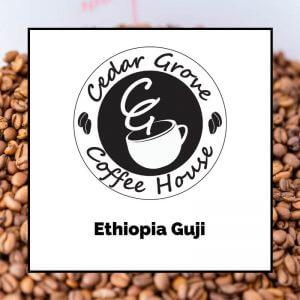 Ethiopia Guji coffee label