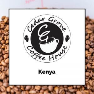 Kenya coffee label