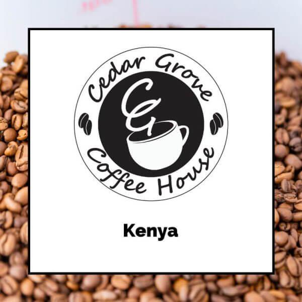 Kenya coffee label