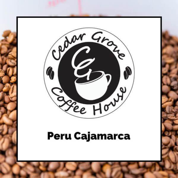 Peru Cajamarca coffee label